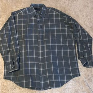 Ralph Lauren Gray Plaid Blair Shirt Size XL